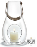Holmegaard Lanterne Design with light 29 cm klar -