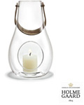 Holmegaard Lanterne Design with light 16 cm klar -