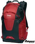 Bergans Backcountry sekk 34 l rød/sort -