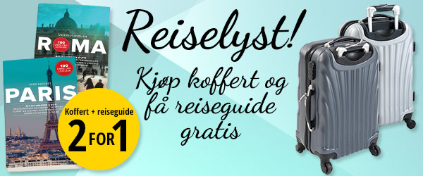 Koffert + reiseguide 2 for 1
