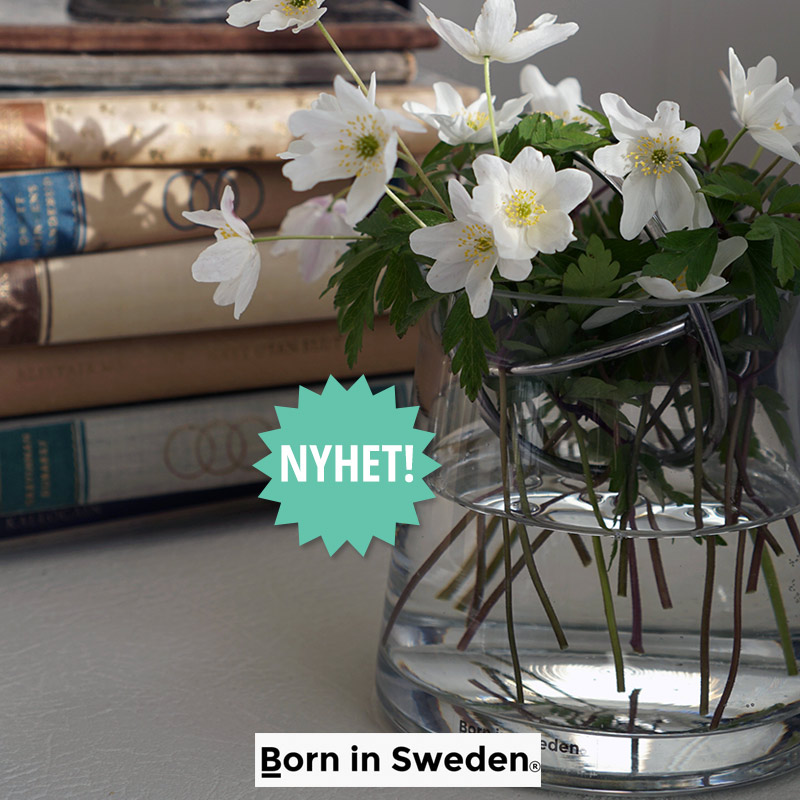 Born in Sweden vase