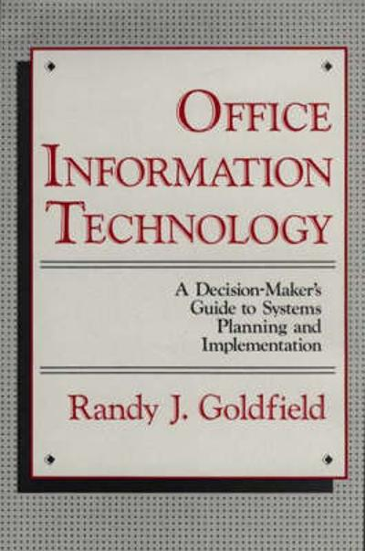 Office Information Technology - Randy J. Goldfield