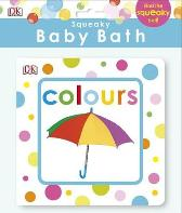 Squeaky Baby Bath Book Colours - DK