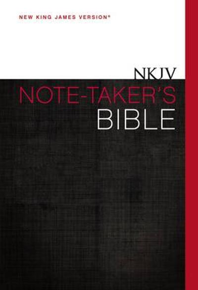 NKJV, Note-Taker's Bible, Hardcover, Red Letter Edition - Zondervan Publishing
