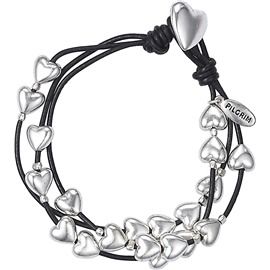 Heart Leather Bracelet - Pilgrim