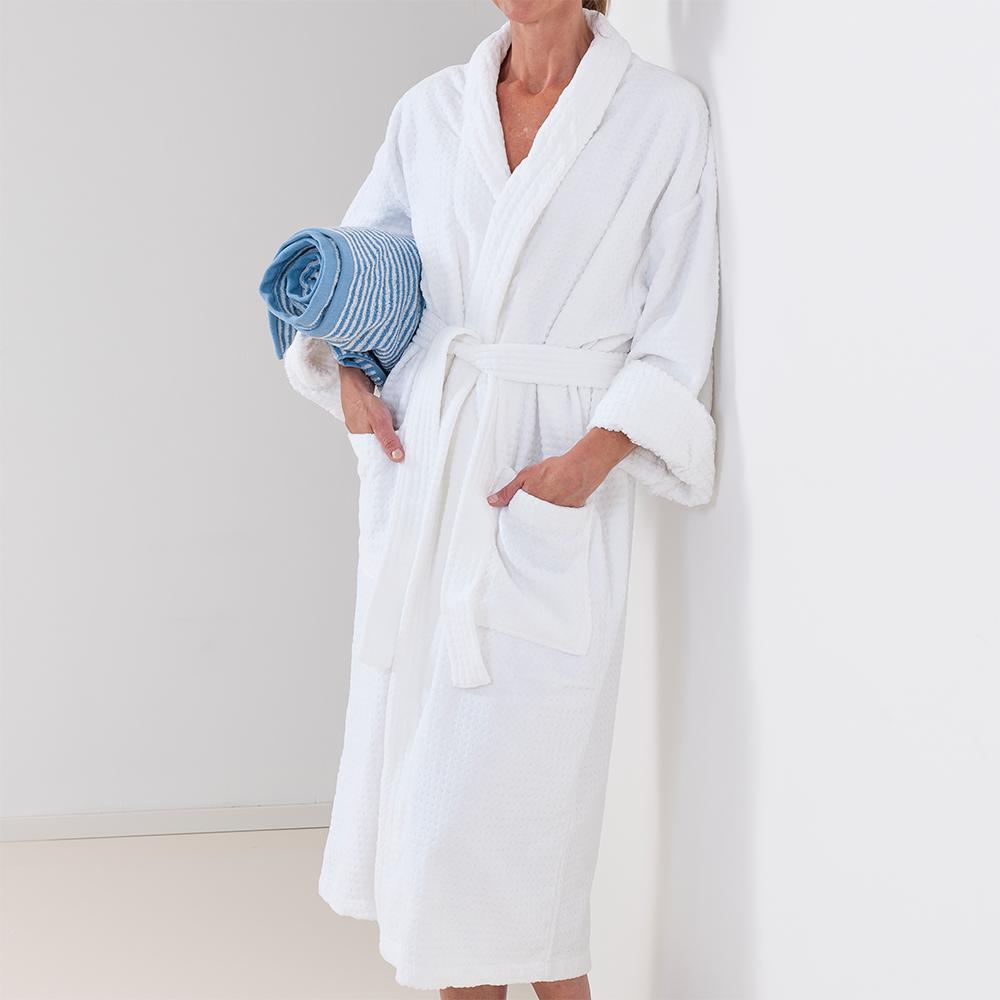 3f6ec865 Badekåpe Sauna hvit frotte - Pure Bath » Bokklubben