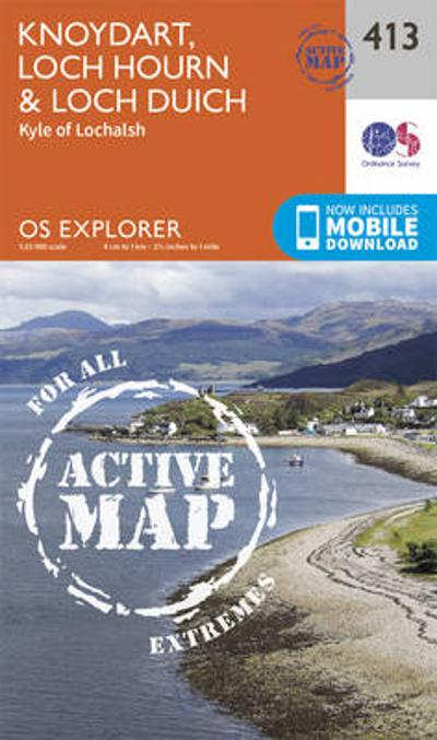 Knoydart, Loch Hourn and Loch Duich - Ordnance Survey