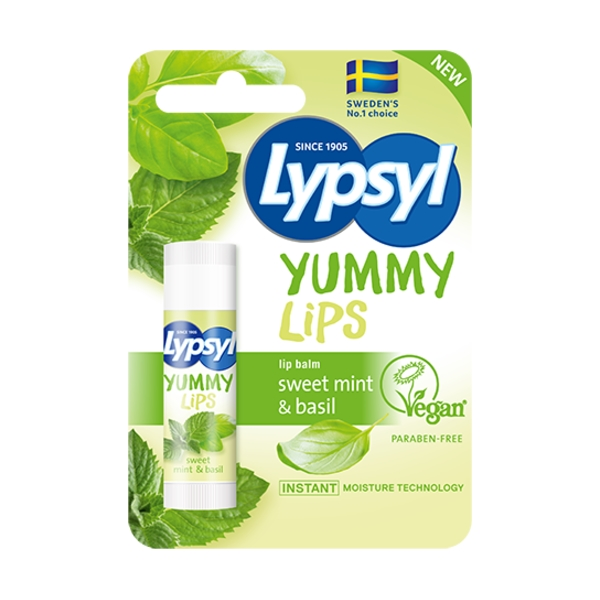 Yummy Lips - Sweet Mint & Basil - Lypsyl