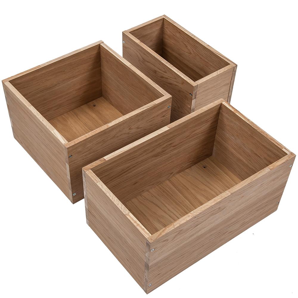 Modish Hylle Cubic box eik - Hyllemakeriet » Bokklubben XY-06