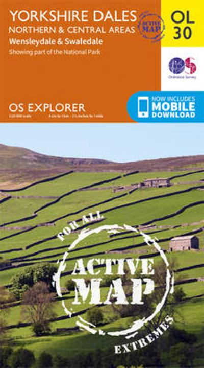 Yorkshire Dales Northern & Central - Ordnance Survey