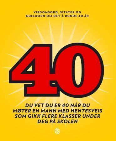 40 års dikter 40   Innbundet (9788248903109) » Bokklubben 40 års dikter
