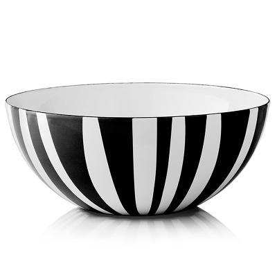 Stripes bolle sort 24 cm - Cathrineholm