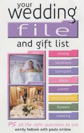 Your Wedding File and Gift List - Wendy Hobson Paula Onslow