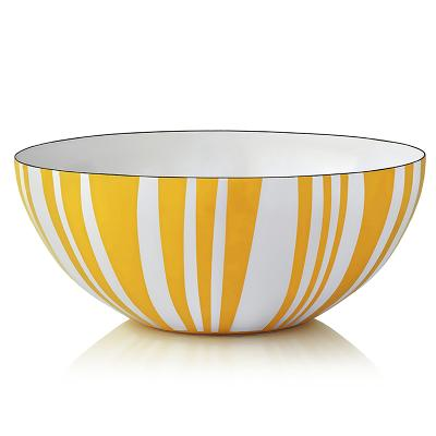Stripes bolle gul 14 cm - Cathrineholm