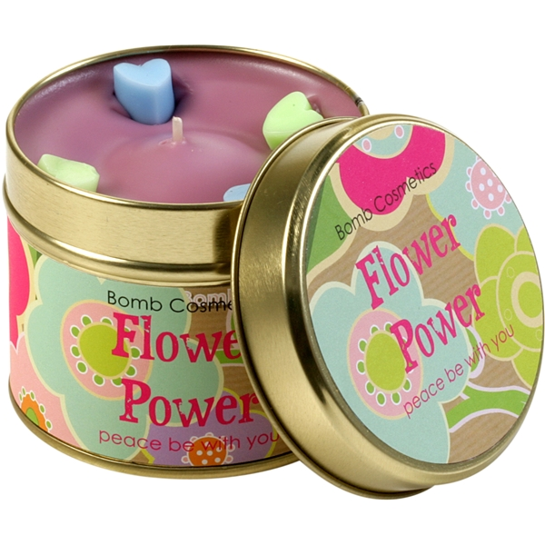 Tin Candle Flower Power - Bomb Cosmetics