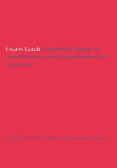 Creative Canada - Reference Division, McPherson Library, University of Victoria