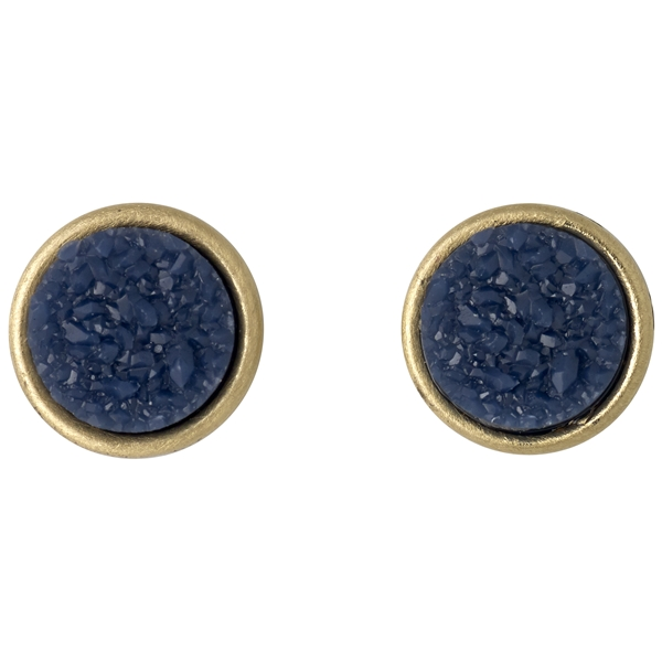 Small Round Earrings Gold Plated - Pilgrim