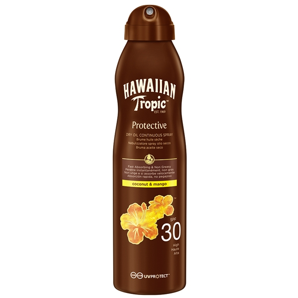 Protective Coconut Mango SPF 30 Dry Oil Spray - Hawaiian Tropic