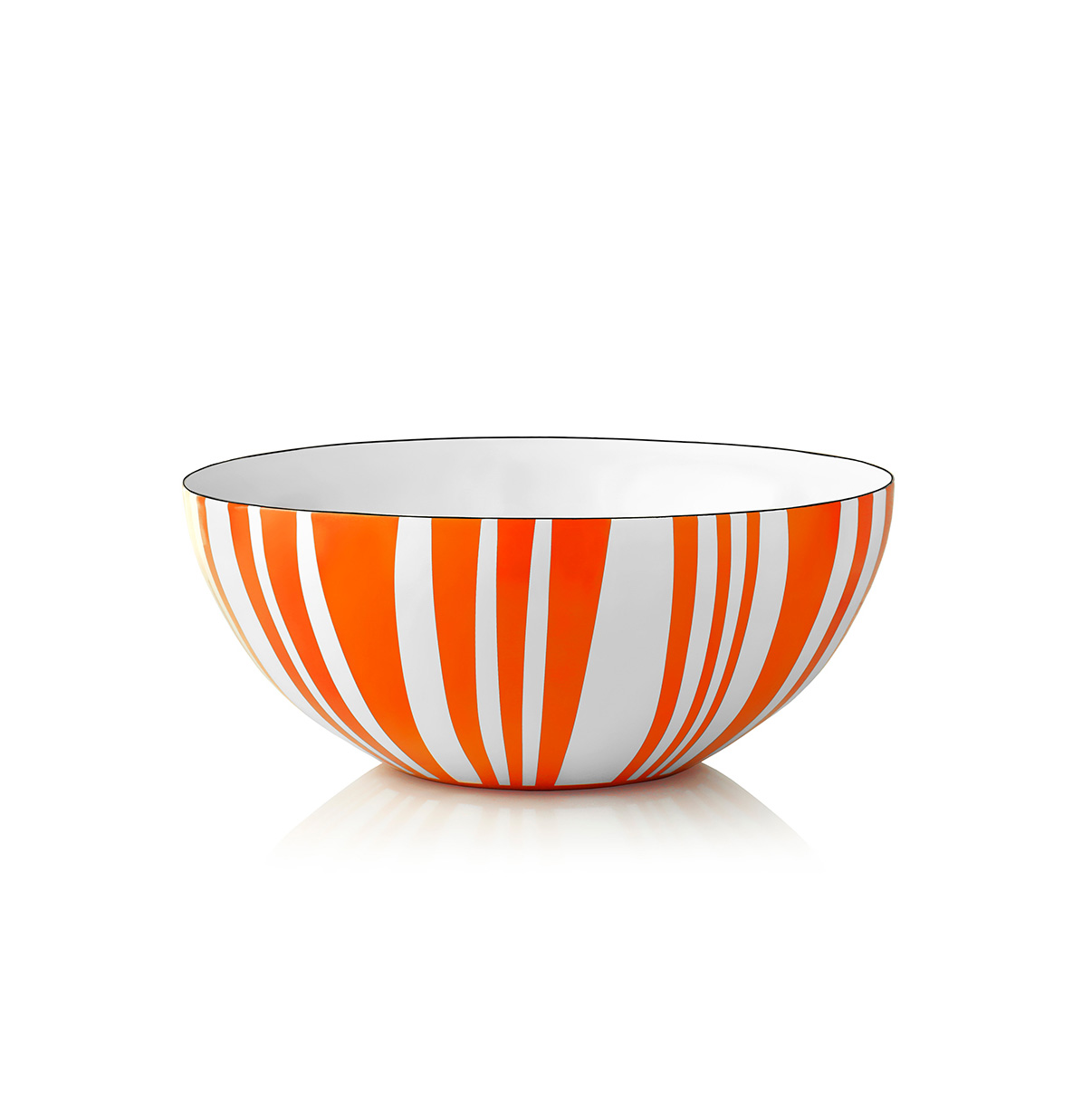 Bolle med orange striper 14 cm - Cathrineholm