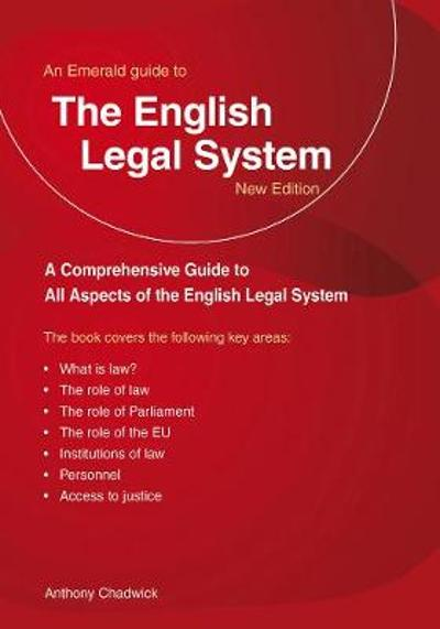 A Guide To The English Legal System - Anthony Chadwick