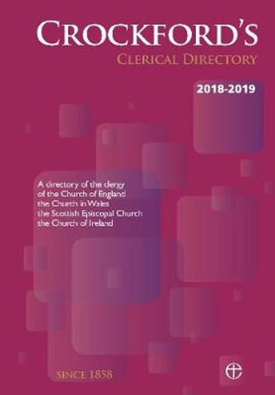 Crockford's Clerical Directory 2018-2019 (paperback) -