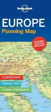 Lonely Planet Europe Planning Map - Lonely Planet Lonely Planet