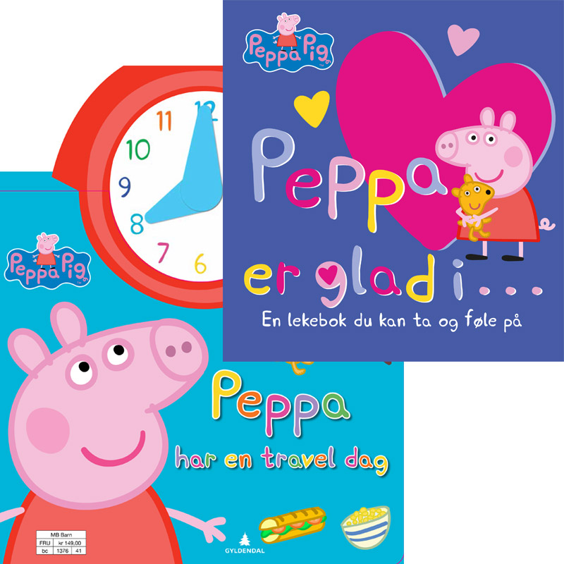 Peppa er glad i + har en travel dag -