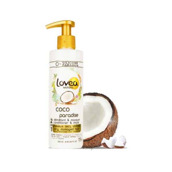 0% Coco Paradise Conditioner & Mask - Dry Hair - Lovea
