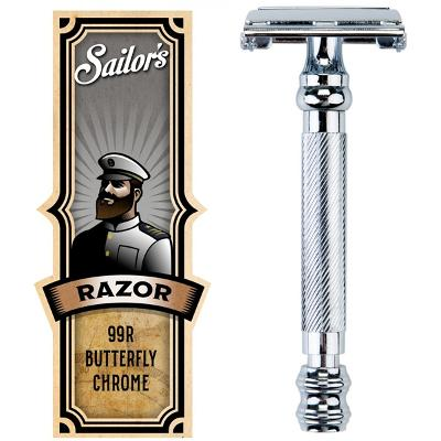 Safety Razor Butterfly Chrome Finish 99R - Sailor's