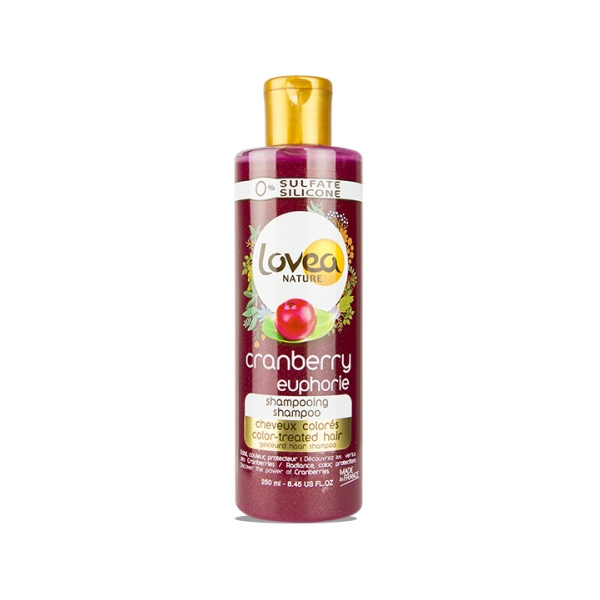 0% Cranberry Euphorie Shampoo - Color Treated Hair - Lovea