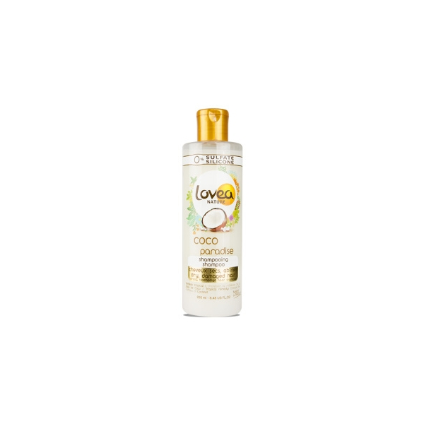 0% Coco Paradise Shampoo - Dry, Damaged Hair - Lovea