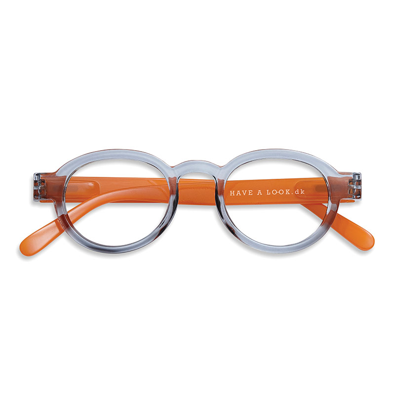 Lesebrille Circle twist grey/orange +3 - Have A Look