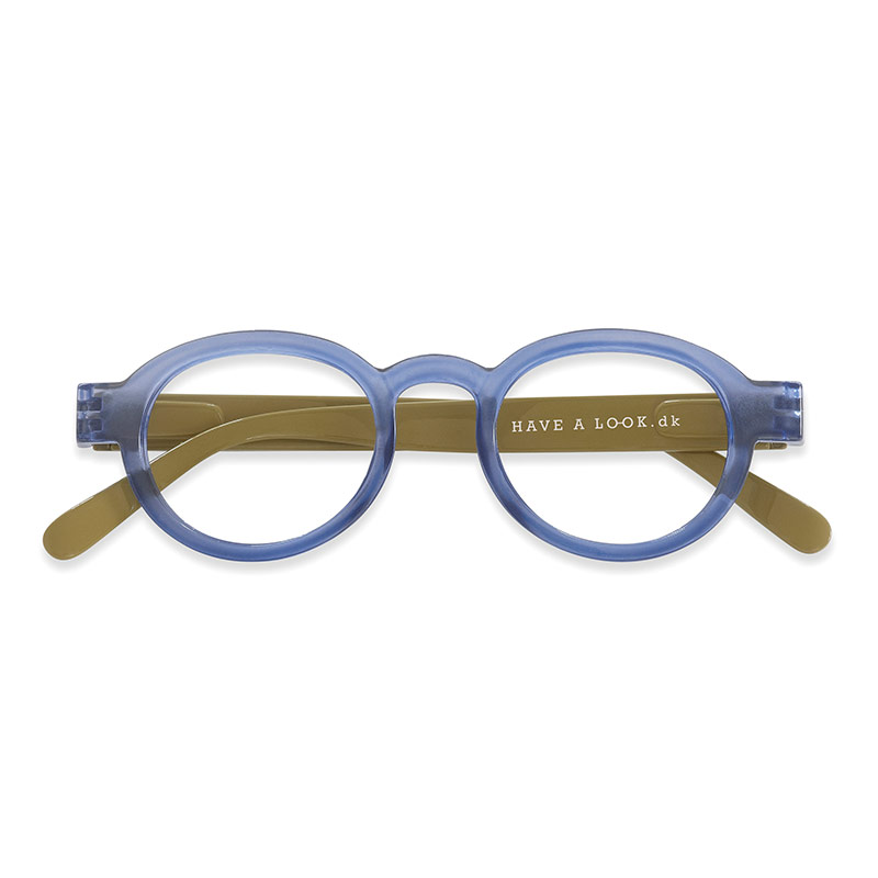 Lesebrille Circle twist blue/lime+1 - Have A Look