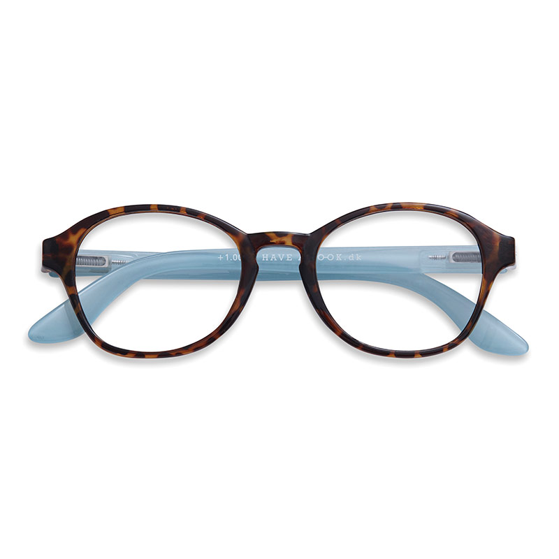 Lesebrille Circle horn/blue+3 - Have A Look