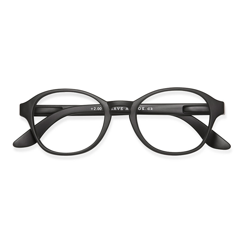 Lesebrille Circle Black +2 - Have A Look