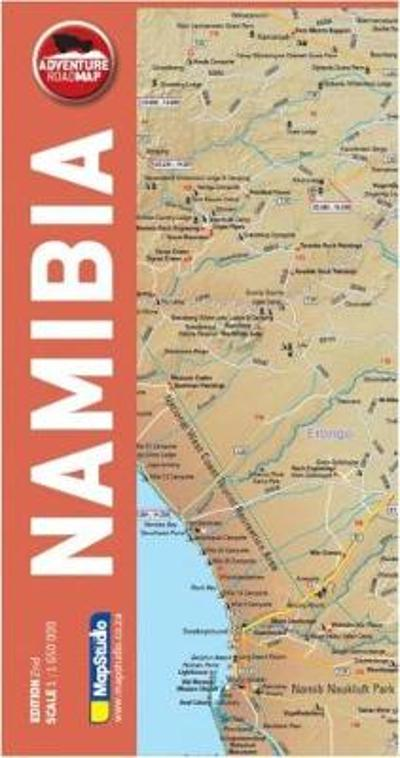 Adventure road map Namibia - Map Studio