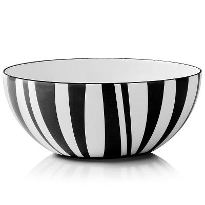 Stripes bolle sort 10 cm - Cathrineholm
