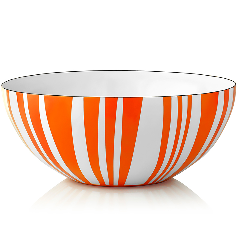 Bolle med orange striper 10 cm - Cathrineholm