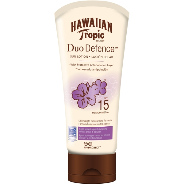 Duo Defence Sun Lotion SPF 15 - Hawaiian Tropic