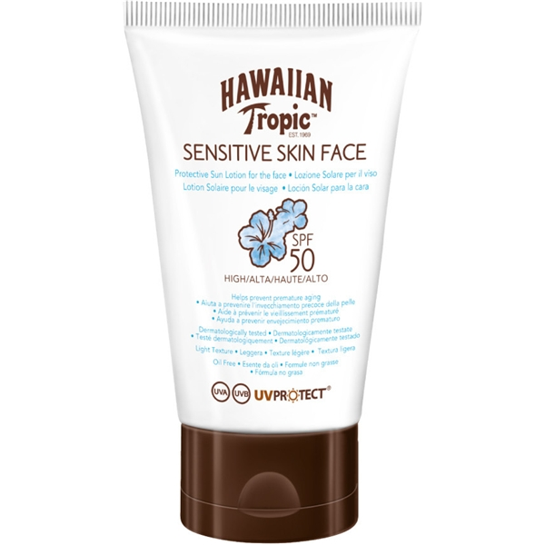 Sensitive Skin Protective Lotion Face SPF 50 - Hawaiian Tropic