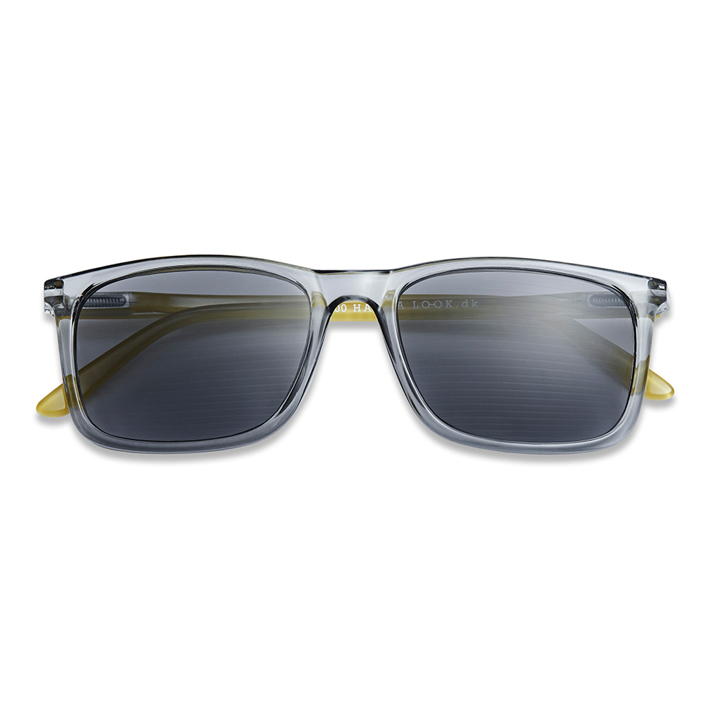 Solbrille Type A Smoke/Lime med styrke +3 - Have A Look