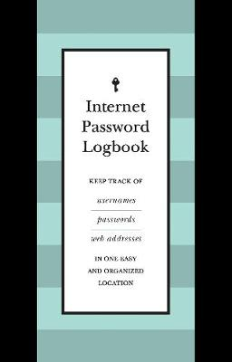 Internet Password Logbook (Black Leatherette) - Editors of Rock Point