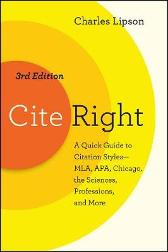 Cite Right, Third Edition - Charles Lipson