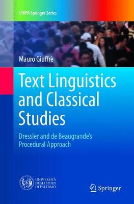Text Linguistics and Classical Studies - Mauro Giuffre