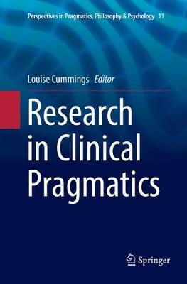 Research in Clinical Pragmatics - Louise Cummings