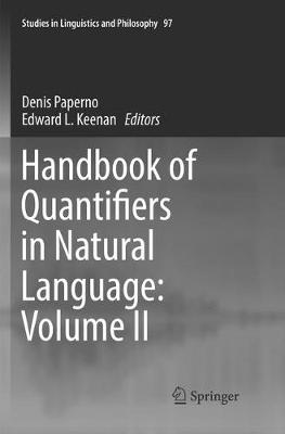 Handbook of Quantifiers in Natural Language: Volume II - Denis Paperno