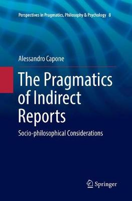 The Pragmatics of Indirect Reports - Alessandro Capone