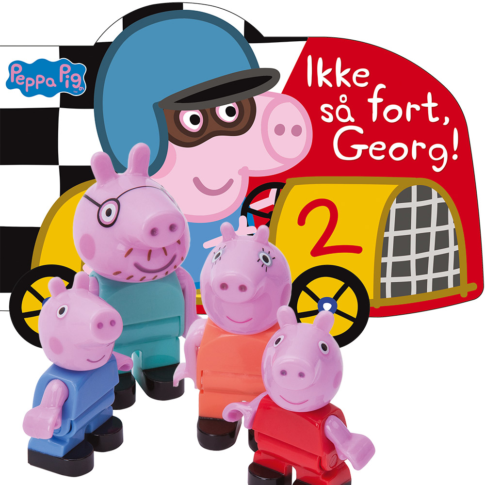 Peppa Gris, Ikke så fort Georg + Figurer Peppa Gris -