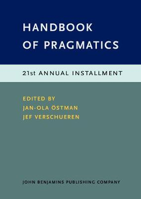 Handbook of Pragmatics - Jan-Ola Ostman