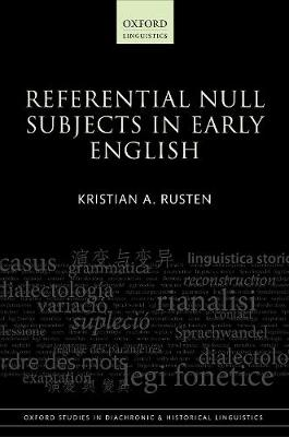 Referential Null Subjects in Early English - Kristian A. Rusten